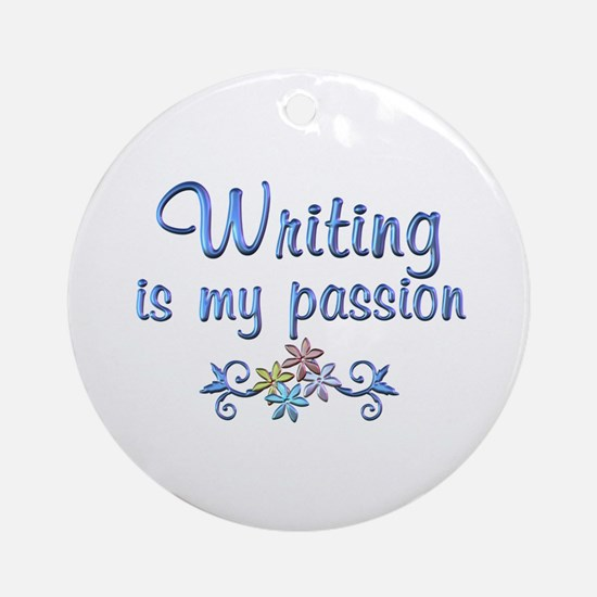 Writing Passion Ornament (Round)