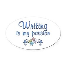 Writing Passion Oval Car Magnet