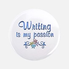 """Writing Passion 3.5"""" Button"""