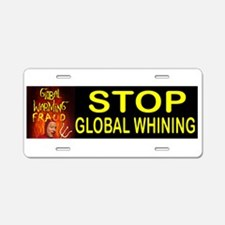 GLOBAL WHINING BUMPER Aluminum License Plate