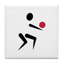 Volleyball icon ball Tile Coaster