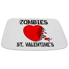 Zombies Love St. Valentines Bathmat
