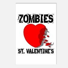 Zombies Love St. Valentines Postcards (Package of