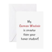 My German Wirehair is smarter... Greeting Card