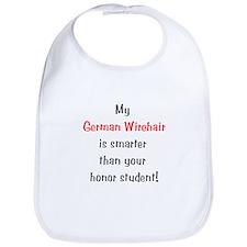 My German Wirehair is smarter... Bib