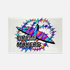Circle Makers Rainbow Rectangle Magnet
