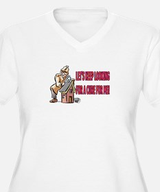 LOOKING FOR A CURE Plus Size V-Neck T-Shirt