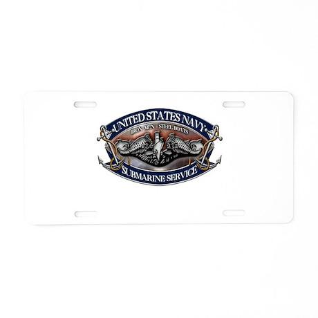 USN Sub Dolphins Iron Men Aluminum License Plate