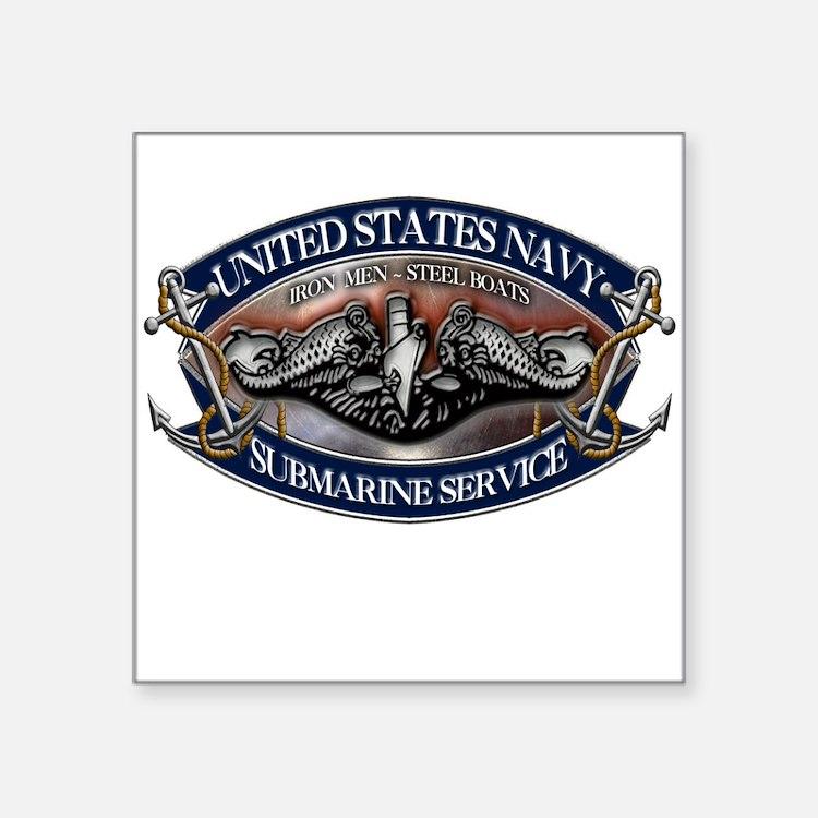USN Sub Dolphins Iron Men Sticker