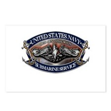 USN Sub Dolphins Iron Men Postcards (Package of 8)