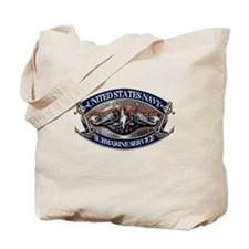 USN Sub Dolphins Iron Men Tote Bag