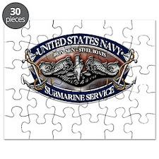 USN Sub Dolphins Iron Men Puzzle