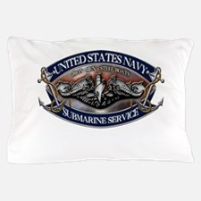 USN Sub Dolphins Iron Men Pillow Case
