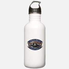 USN Sub Dolphins Iron Men Water Bottle