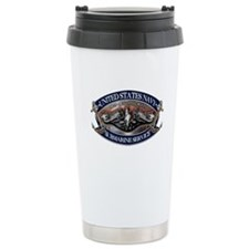 USN Sub Dolphins Iron Men Travel Mug