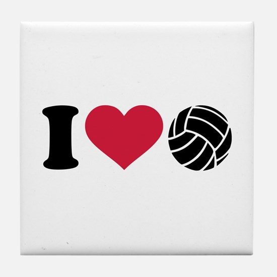I love Volleyball Tile Coaster