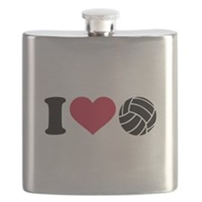 I love Volleyball Flask