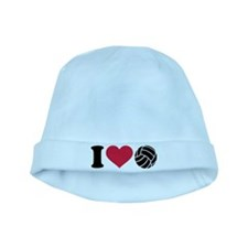 I love Volleyball baby hat