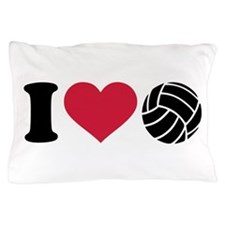 I love Volleyball Pillow Case