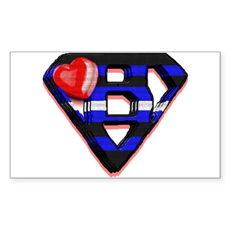 LEATHER SUPER BEAR/WOOD 2 Rectangle Sticker