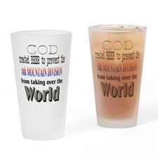 10th Mountain and Beer Drinking Glass