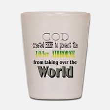 101st Airborne and Beer Shot Glass