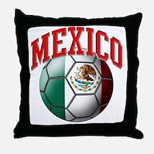 Flag of Mexico Soccer Ball Throw Pillow