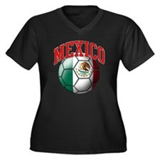 Flag of Mexi Women's Plus Size V-Neck Dark T-Shirt