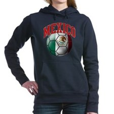 Flag of Mexico Soccer Ball Hooded Sweatshirt