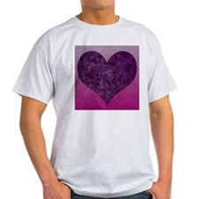 heart mosaic purple T-Shirt