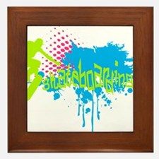 Graffiti skateboarding Framed Tile