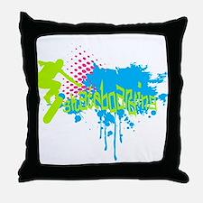 Graffiti skateboarding Throw Pillow