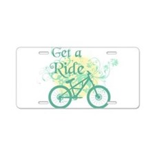 Get a ride Biking Aluminum License Plate