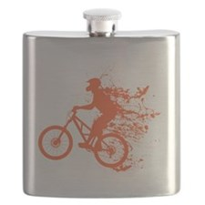 Biker ink splash Flask