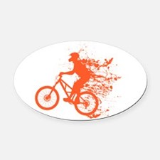 Biker ink splash Oval Car Magnet