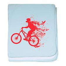 Biker ink splash baby blanket