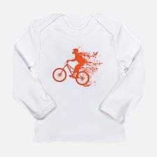 Biker ink splash Long Sleeve Infant T-Shirt