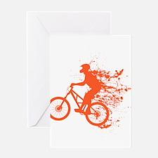 Biker ink splash Greeting Card