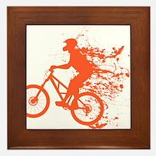 Biker ink splash Framed Tile