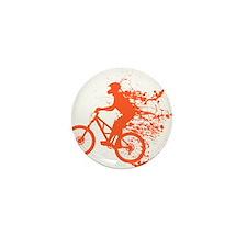 Biker ink splash Mini Button