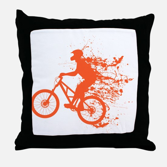 Biker ink splash Throw Pillow