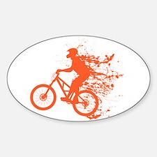 Biker ink splash Sticker (Oval)