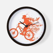 Biker ink splash Wall Clock