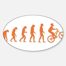 Evolution Biking Sticker (Oval)