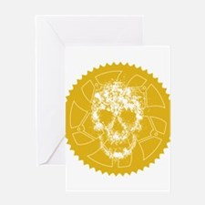 Chainring skull Greeting Card