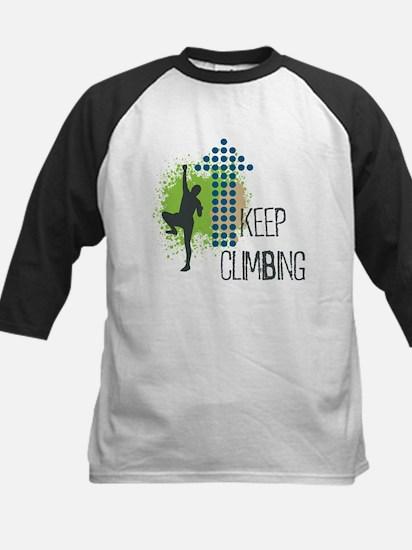 Keep climbing Kids Baseball Jersey