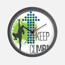 Keep climbing Wall Clock