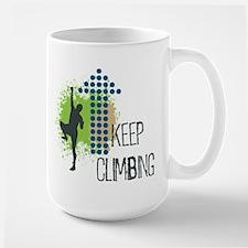 Keep climbing Large Mug