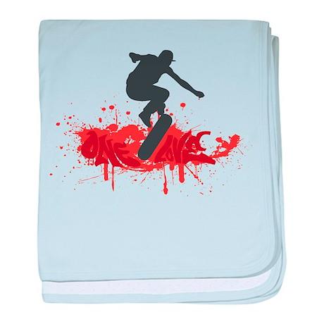 One love skateboarding baby blanket