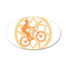 Biker chainring 20x12 Oval Wall Decal